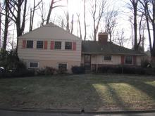 The home is located in a wooded area in Paoli, PA.