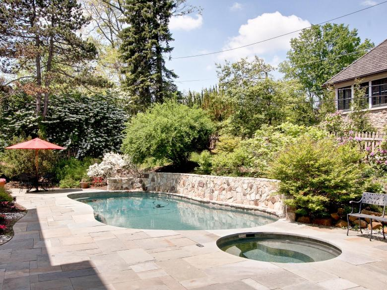 Our team installed a pool and hot tub and landscaped some parts of the property.