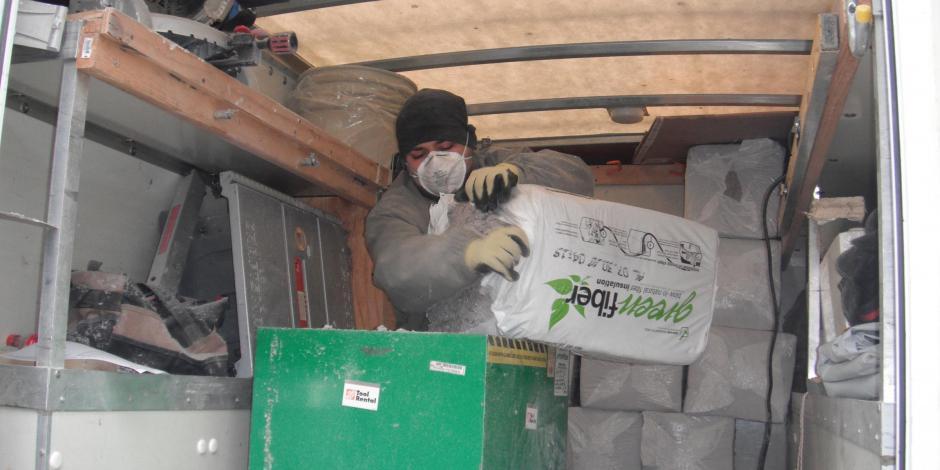 Spray foam insulation, fiberglass insulation, cellulose insulation, foam board insulation